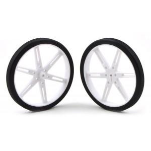 Pareja de ruedas 80x10mm - Blanco